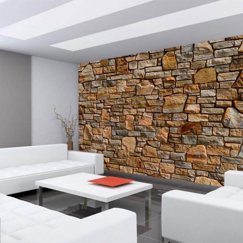 Wohnzimmer Steintapete
