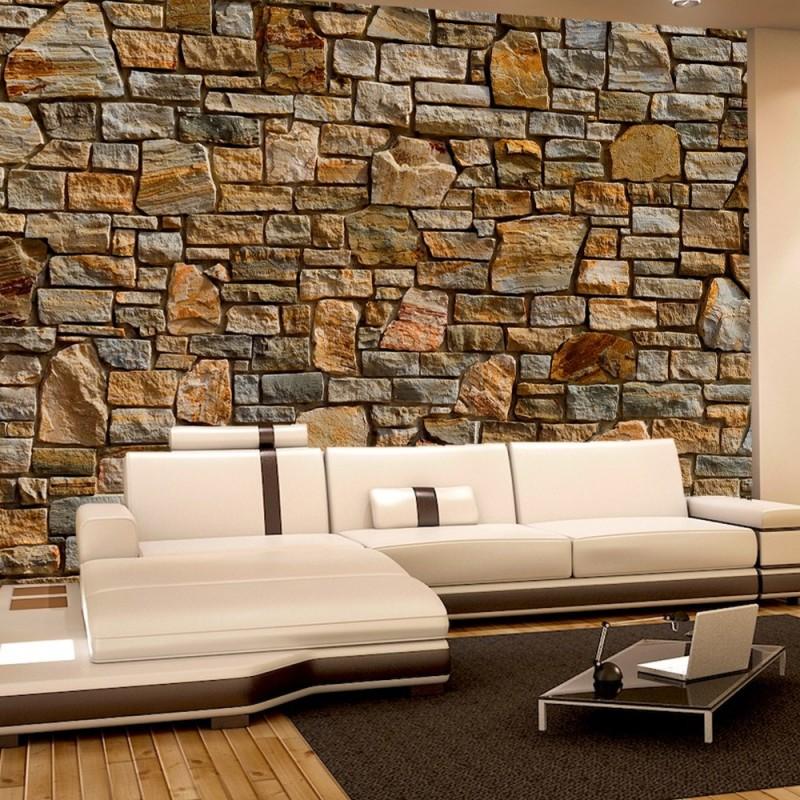 vlies fototapete no 155 steinwand tapete steinoptik. Black Bedroom Furniture Sets. Home Design Ideas