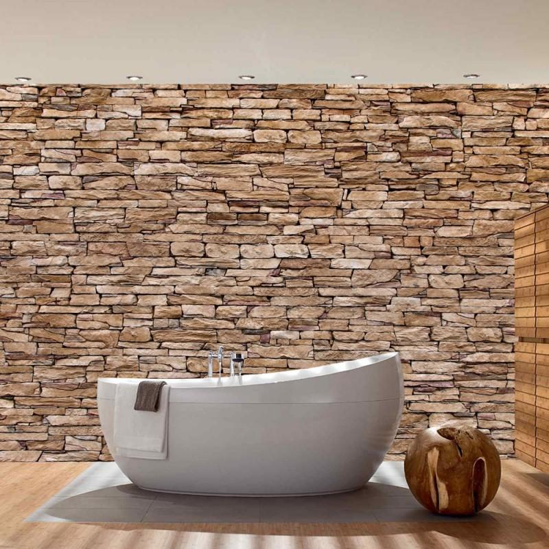 vlies fototapete no 157 steinwand tapete steinwand. Black Bedroom Furniture Sets. Home Design Ideas