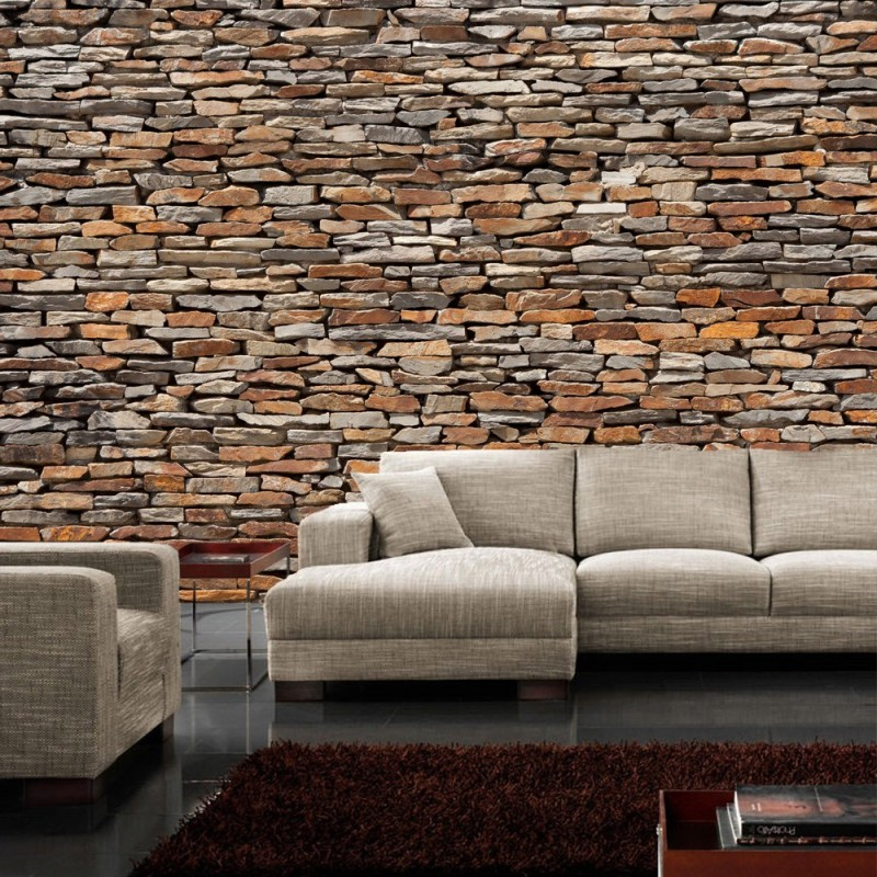 vlies fototapete no 158 steinwand tapete steinoptik. Black Bedroom Furniture Sets. Home Design Ideas