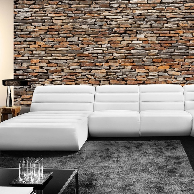 3d tapete steinoptik vlies fototapete asian stone wall. Black Bedroom Furniture Sets. Home Design Ideas