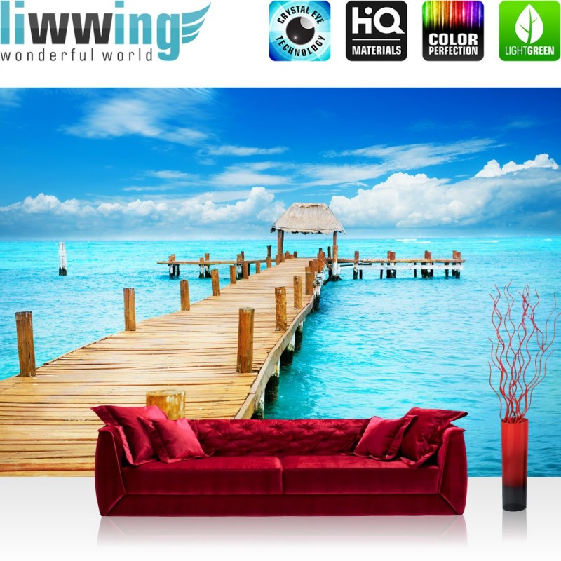 premium fototapete no 159 strand meer nordsee ostsee beach wasser blau himm ebay. Black Bedroom Furniture Sets. Home Design Ideas