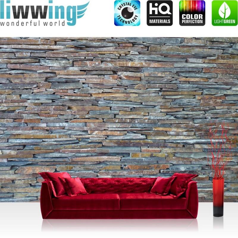 Vlies fototapete no 160 steinwand tapete steinoptik steine wand mauer stein ebay - Steinwand innenbereich ...