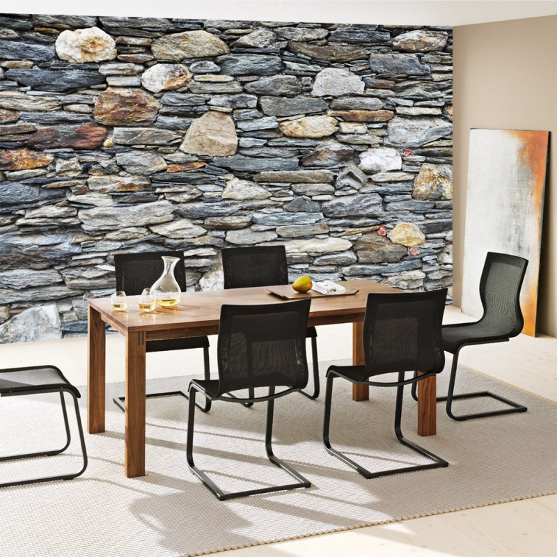 Awesome graue wand und stein images ideas design for Wandtapete grau