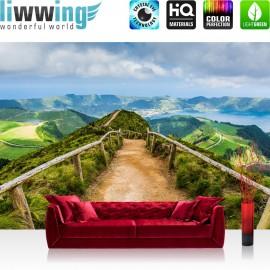 "Vlies Fototapete ""no. 167"" | Landschaft Tapete Berge Aussicht Alpen Urlaub wandern grün"