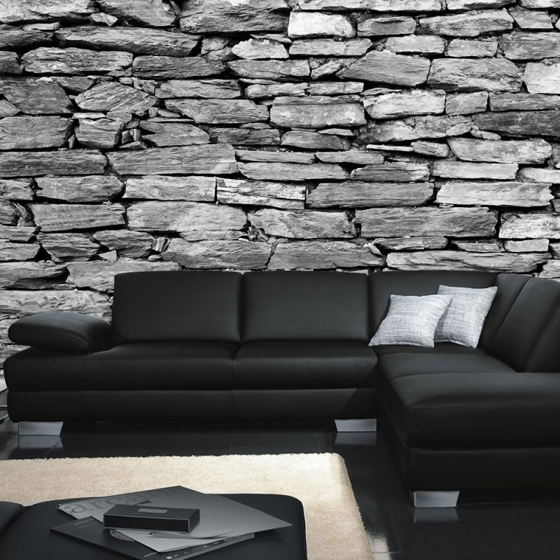 vlies fototapete no 172 steinwand tapete steinoptik. Black Bedroom Furniture Sets. Home Design Ideas