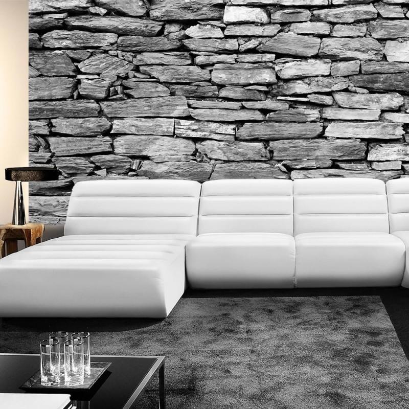 vlies fototapete no 172 steinwand tapete steinoptik steine wand mauer steintapete grau. Black Bedroom Furniture Sets. Home Design Ideas