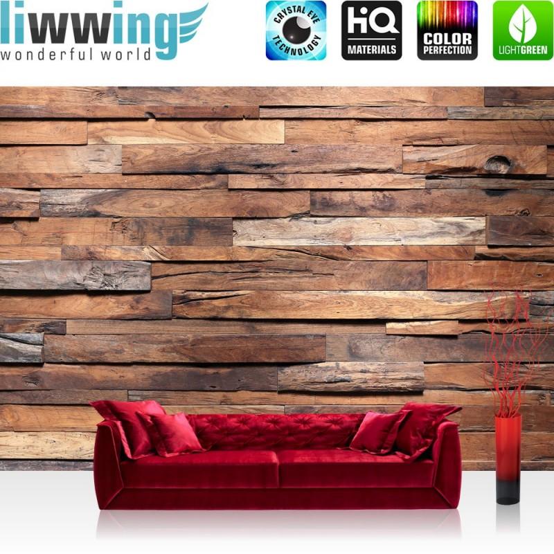 vlies fototapete no 174 holz tapete holzwand steinoptik. Black Bedroom Furniture Sets. Home Design Ideas
