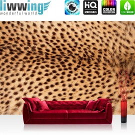 "Vlies Fototapete ""no. 181"" | Tiere Tapete Leopard Natur braun"