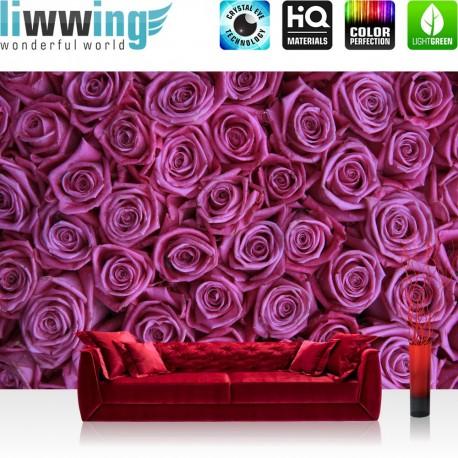 "Vlies Fototapete ""no. 183"" | Blumen Tapete Blumen Rose Blüten Natur Liebe Love Blüte lila"
