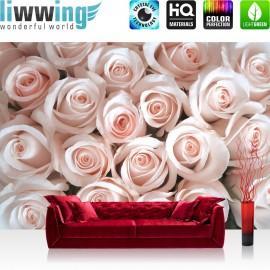 "Vlies Fototapete ""no. 185"" | Blumen Tapete Blumen Rose Blüten Natur Liebe Love Blüte rosa"
