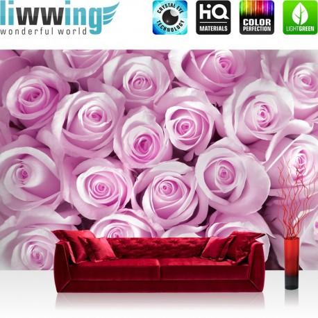 """Vlies Fototapete """"no. 186""""   Blumen Tapete Blumen Rose Blüten Natur Liebe Love Blüte pink"""