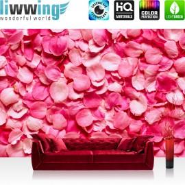 "Vlies Fototapete ""no. 188"" | Blumen Tapete Blüten Liebe Love Rot Natur grau"