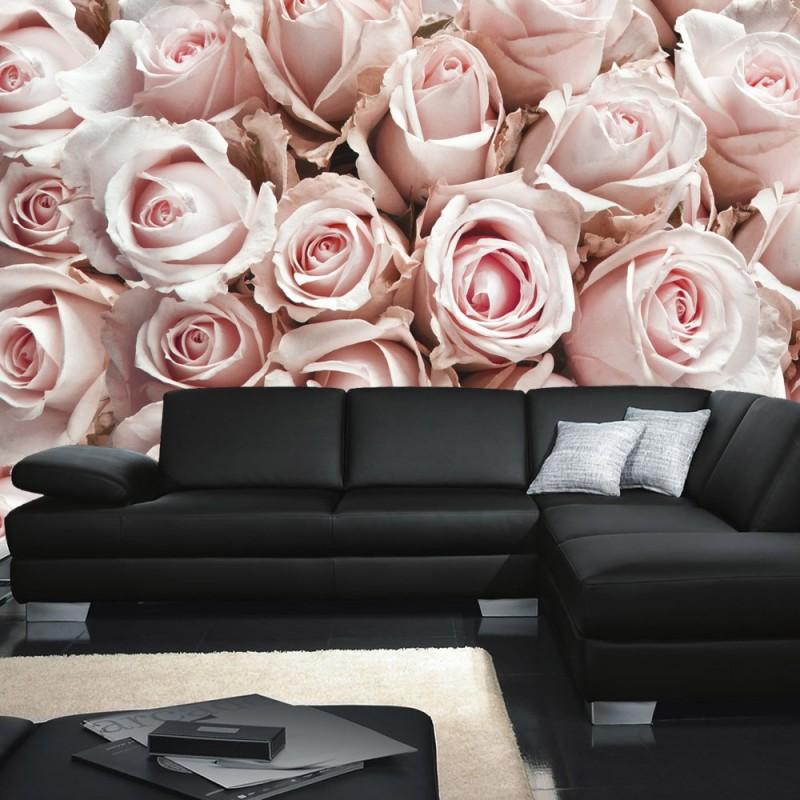 vlies fototapete no 189 blumen tapete blumen rose. Black Bedroom Furniture Sets. Home Design Ideas