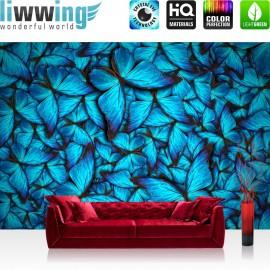 "Vlies Fototapete ""no. 192"" | Tiere Tapete Schmetterlinge Natur Blau blau"