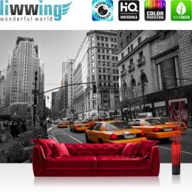 PREMIUM Fototapete - no. 194 | Manhattan Skyline Taxis City Stadt