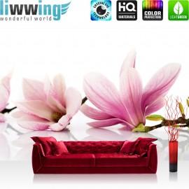 PREMIUM Fototapete - no. 202 | Orchidee Blumen Blumenranke Rosa Natur Pflanzen Abstrakt