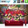 "Vlies Fototapete ""no. 220"" | Graffiti Tapete Kinderzimmer Graffiti Streetart Sprayer 3D bunt braun"