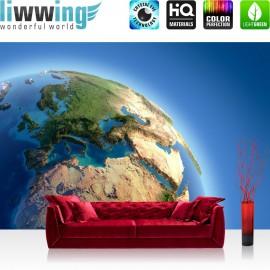 "Vlies Fototapete ""no. 230"" | Welt Tapete Erde Weltraum Planet blau"