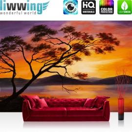 PREMIUM Fototapete - no. 214 | Sonnenuntergang Baum Natur Romantisch Urlaub