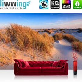 "Vlies Fototapete ""no. 246"" | Strand Tapete Düne Wasser Beach Ausblick beige"