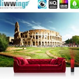 "Vlies Fototapete ""no. 249"" | Rom Tapete Rom Kolosseum Italien Landschaft Architektur beige"