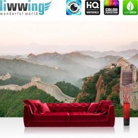 "Vlies Fototapete ""no. 251"" | China Tapete Mauer Steine Natur Ausblick grau"
