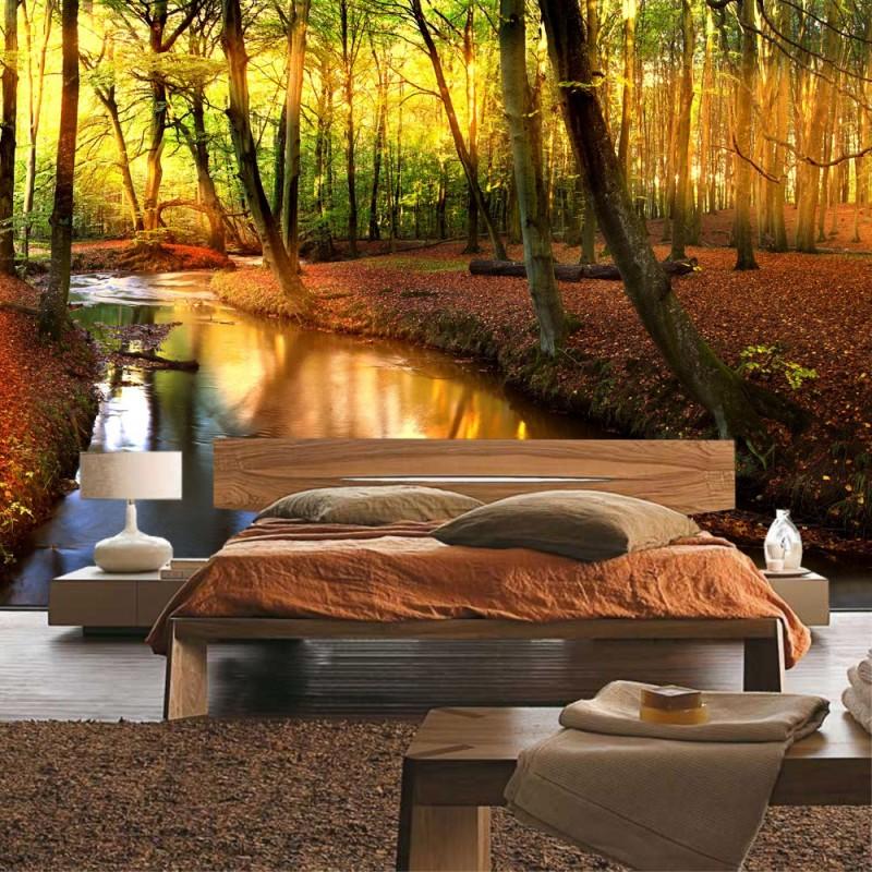 vlies fototapete no 252 wald tapete b ume natur sonne. Black Bedroom Furniture Sets. Home Design Ideas