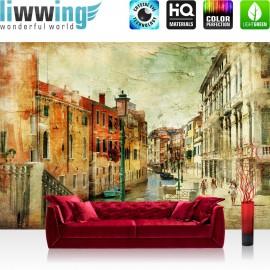 "Vlies Fototapete ""no. 257"" | Venedig Tapete Italien Romantisch Gebäude braun"