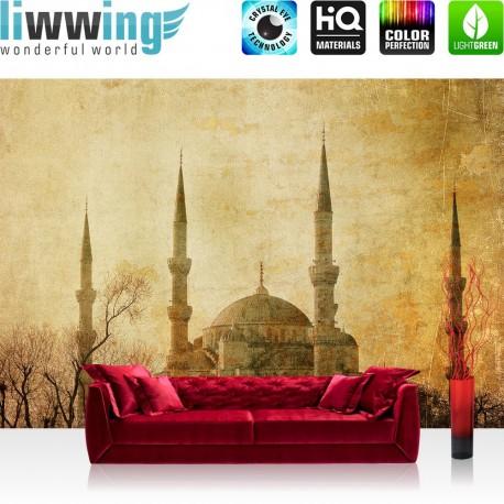"Vlies Fototapete ""no. 267"" | Türkei Tapete Istanbul Moschee Abstrakt Beige ocker"