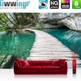 PREMIUM Fototapete - no. 268 | Natur Wasser Holzweg Romantisch