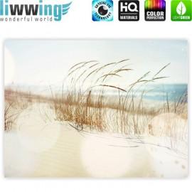 "liwwing (R) Marken Leinwandbild ""no. 148"" | classic (4:3) | Strand Meer Nordsee Ostsee Beach Wasser Blau Himmel Sonne Sommer"