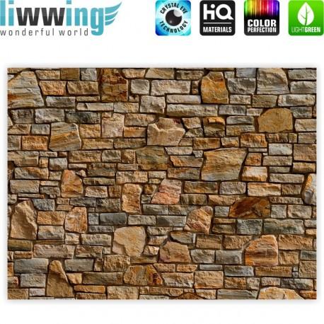 liwwing r leinwandbild no 155 100x75cm 1 teilig steinwand steinoptik steine wand mauer. Black Bedroom Furniture Sets. Home Design Ideas