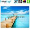 "liwwing (R) Marken Leinwandbild ""no. 159""   classic (4:3)   Strand Meer Nordsee Ostsee Beach Wasser Blau Himmel Sonne Sommer"