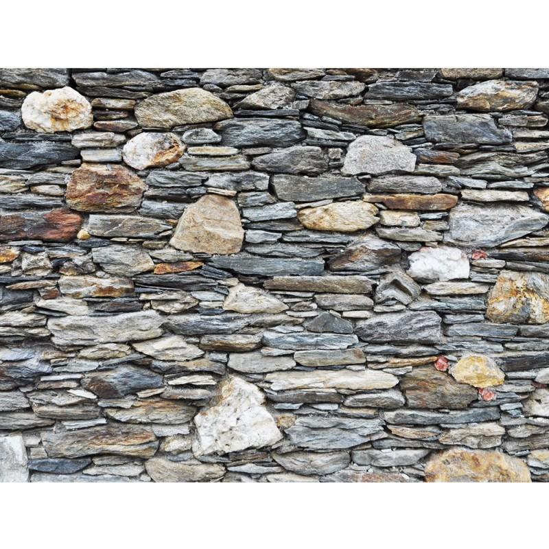 liwwing r leinwandbild no 161 100x75cm 1 teilig steinwand steinoptik steine wand mauer. Black Bedroom Furniture Sets. Home Design Ideas