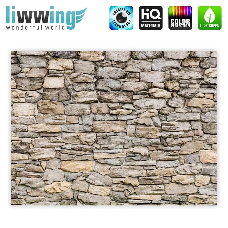 liwwing r leinwandbild no 166 100x75cm 1 teilig steinwand steinoptik steine wand mauer. Black Bedroom Furniture Sets. Home Design Ideas