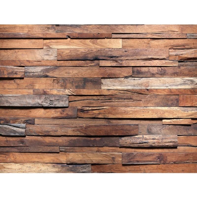 liwwing r leinwandbild no 174 100x75cm 1 teilig holzwand steinoptik holz wand mauer holztapete. Black Bedroom Furniture Sets. Home Design Ideas