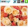 """liwwing (R) Marken Leinwandbild """"no. 191""""   classic (4:3)   Blumen Rose Blüten Natur Liebe Love Blüte Gelb"""