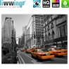 """liwwing (R) Marken Leinwandbild """"no. 194""""   classic (4:3)   Manhattan Skyline Taxis City Stadt"""