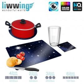 Küchenset komplett A Million Stars | Sternenhimmel Stars Sterne Leuchtsterne Nachthimmel blau | liwwing (R)