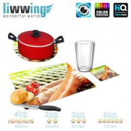 Küchenset komplett no. 3723 | Kulinarisches Grill, Bratwurst, Barbecue, natural | liwwing (R)