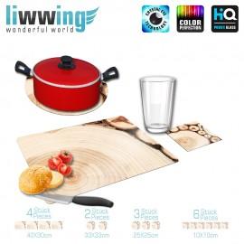 Küchenset komplett no. 3727 | Texturen Schnitt, Rollen, Holz braun | liwwing (R)