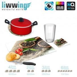 Küchenset komplett no. 3700 | Kulinarisches Tee, Blätter, Jutesack, Kochlöffel natural | liwwing (R)