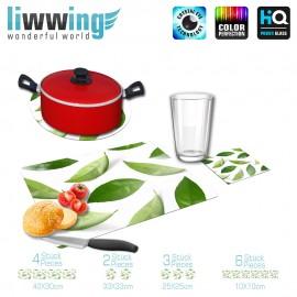 Küchenset komplett no. 3701 | Kulinarisches Tee, Blätter, Lorbeer natural | liwwing (R)