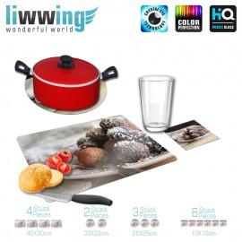 Küchenset komplett no. 3703 | Kulinarisches Rumkugeln, Süßigkeiten, Kakao, Kokos natural | liwwing (R)