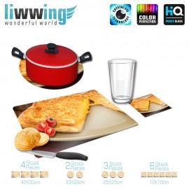 Küchenset komplett no. 3705 | Kulinarisches Toast, Grilled Cheese, Frühstück natural | liwwing (R)