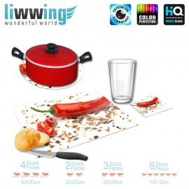 Küchenset komplett no. 3710 | Kulinarisches Chili, Chiliflocken, Chilipulver, Gewürze rot | liwwing (R)