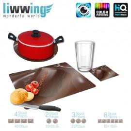 Küchenset komplett no. 3719 | Kulinarisches Schokolade, Chocolate braun | liwwing (R)