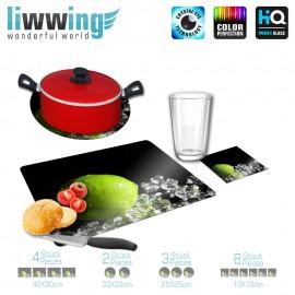 Küchenset komplett no. 3943 | Kulinarisches Limette, Eis, Kristalle natural | liwwing (R)