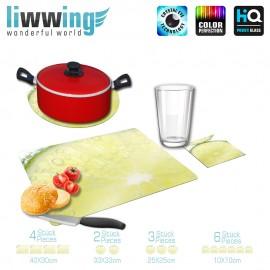 Küchenset komplett no. 3947 | Kulinarisches Limette, Scheibe, Tropfen natural | liwwing (R)